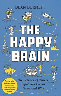Front cover of 'The Happy Brain' book by Dean Burnett