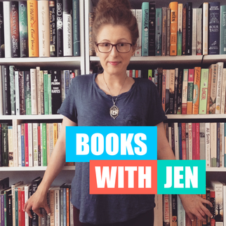 Books with Jen podcast logo